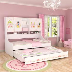 酷漫居 酷漫居 迪士尼系列儿童家具动漫儿童床侧柜床 迪士尼卡通动漫形象侧柜床 魔方系列 MF1-A205