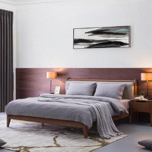 索菲亚 【新品上市】SOGAL索菲亚卧室家具 新中式  悠然实木床  床头柜组合 现代风格床 索菲亚移门衣柜 悠然实木床