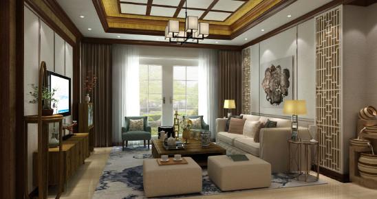 新中式三居设计风格