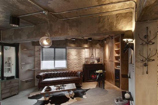 混搭风格公寓一室户设计