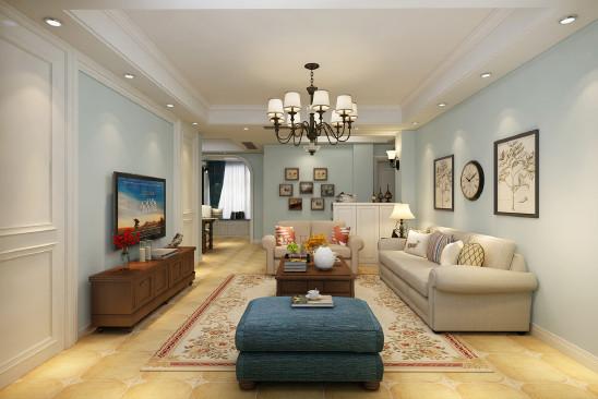 现代美式居住空间室内设计
