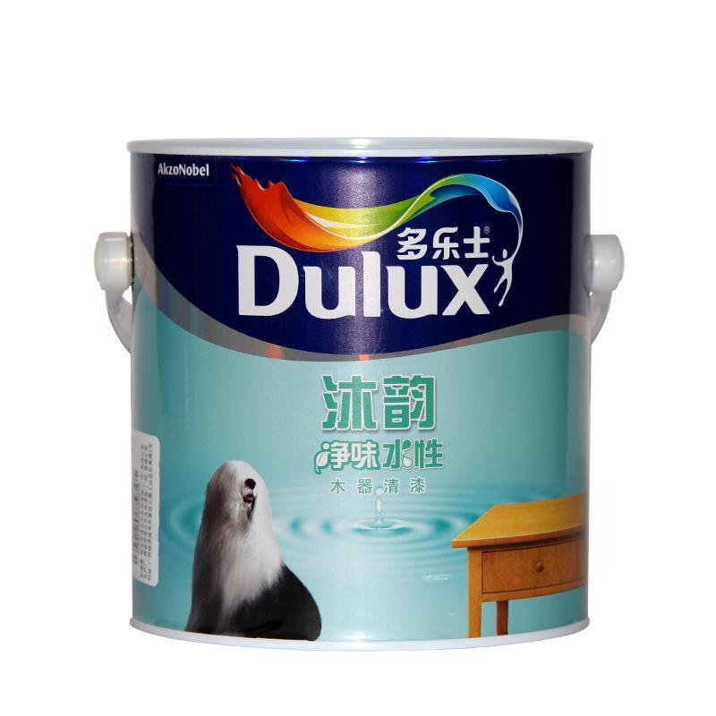 Dulux/多乐士沐韵水性木器漆白色无添加清水底面漆2.5KG环保无味