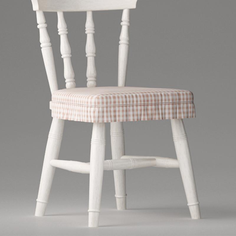 仿古白色书椅