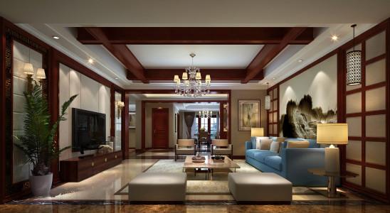 豪华大气新美式四居室装修案例