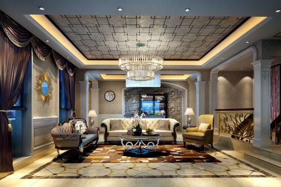 240㎡复式豪宅:繁花似锦,奢华优雅并存