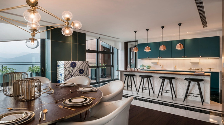 法式现代邂逅装饰艺术,惊艳的顶层公寓设计