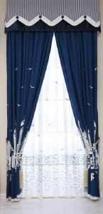 美克思丽 窗帘 中式纯色印花窗帘适合客厅卧室 美居乐 MH7330-6
