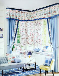 美克思丽 窗帘 地中海风格窗帘适合客厅卧室 美居乐 H1124-1