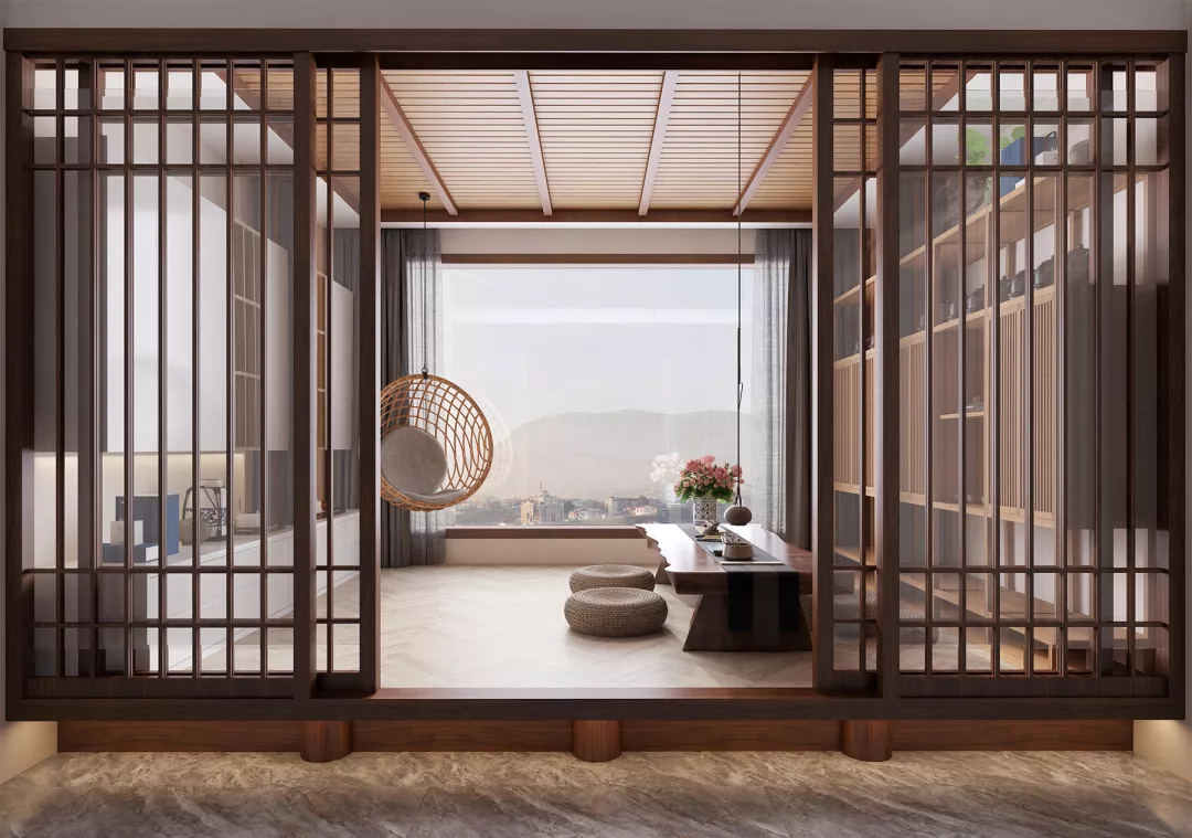 书房+茶室,这才是东方设计的最佳组合方式!