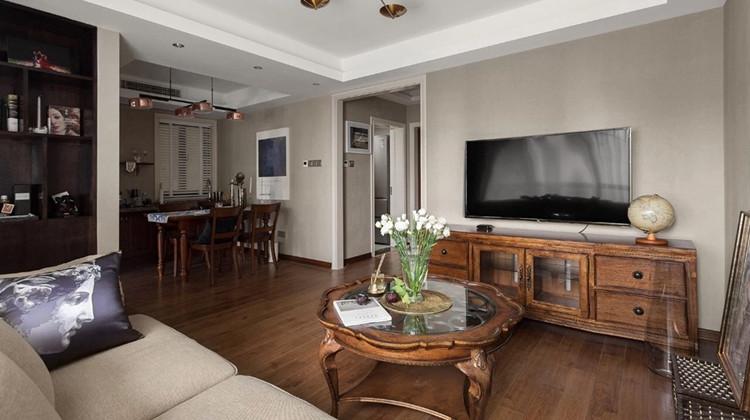 90㎡美式婚房文艺又复古,巧妙对调空间,动线更流畅!
