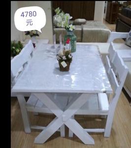 青岛一木 餐桌+4餐椅 实木 爱琴海 TY03
