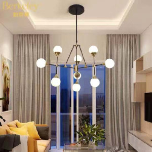 雷士 吊灯 北欧,现代客厅吊灯 伯克丽 BJDK5001/45