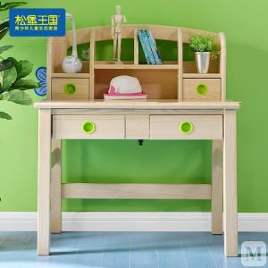 松堡王国 斜面学习桌 全实木青少年儿童生态家具 金典系列 SP-A-T016M