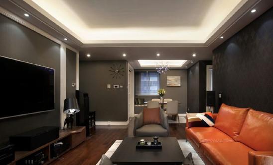 现代简约灰色质感二房