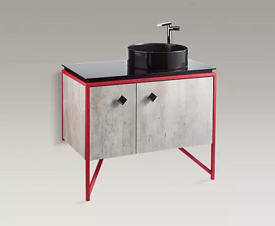 新幻 900mm浴室家具-中灰水泥(包含台面)