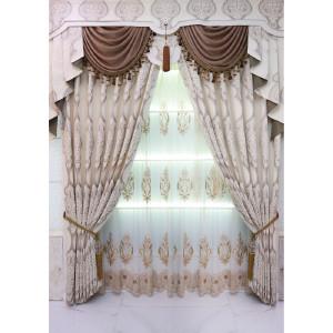 美克思丽 窗帘 欧式雪妮尔提花窗帘适合客厅主卧 美居乐 D8-2