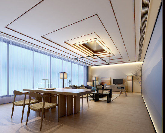 138m²东方禅意三居室