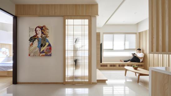 用原木+白色,打造朴素日式三居