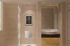 卫生间隔断效果图  打造整洁舒适的卫浴空间