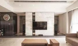 微晶石电视背景墙效果图  营造精美时尚的家居氛围