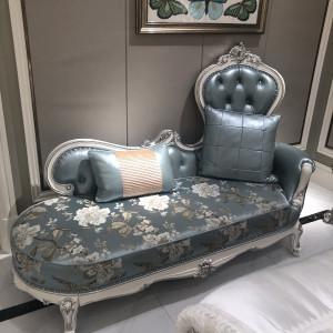 伊莎美伦 伊莎美伦皮布贵妃床 欧式、卧室、法式新古典、客厅 MYGF-B11