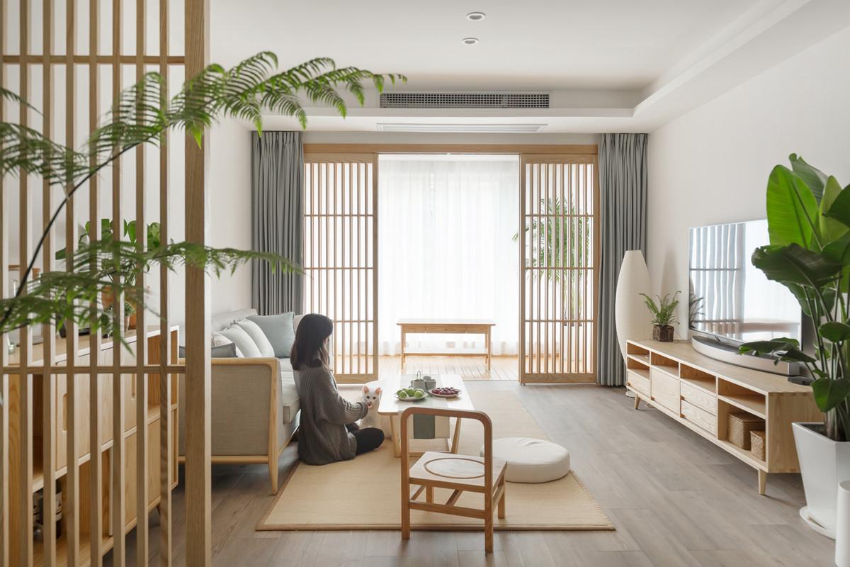"""硬装尽量留白,家具全用白蜡木,这个""""自然生长""""的家温暖又舒适!"""
