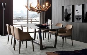 美日居 餐椅 可搭配不同厚度海绵坐垫,分别用作休闲椅、餐椅和书椅。 CY813