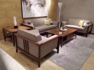 莫霞 单人沙发 现代简约布艺沙发 致简 1625-1