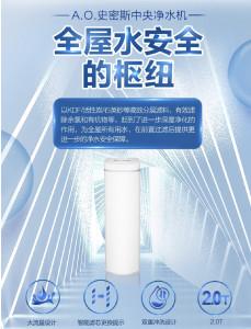 AO史密斯 中央净水机 全屋水安全枢纽 有效滤除余氯和有机物 ACWP20AE1