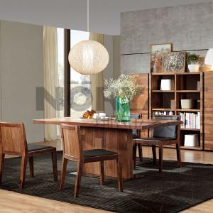 挪亚家 餐桌 这是一款非常有设计感而且销量最好的餐桌,打破传统的设计采用T型桌脚,增强了餐桌的活动空间! D5 KAZTW03A