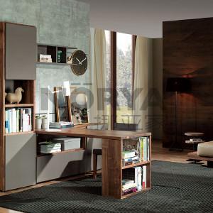挪亚家 书桌 这款书桌采用北美进口黑胡桃木,外观简洁大气,储物方便实用! D5 KAZTH06C