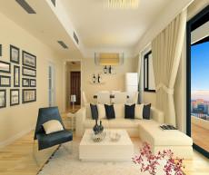 点缀灰蓝色调139㎡现代简约三居室13.6万