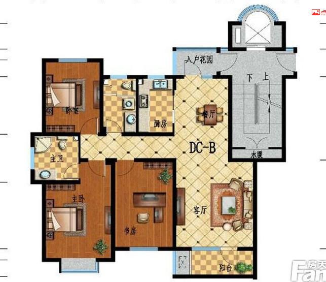 江南甲第123㎡现代简约三居室3.5万