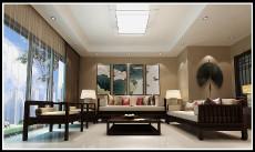 客厅卧室85㎡新中风二居室8万