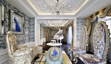 蓝色琥珀171㎡北欧风格三居室16万