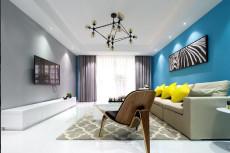 蓝色精灵92㎡现代简约二居室5.6万