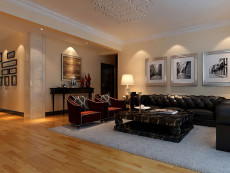 暖色调风137㎡北欧风格三居室9.8万