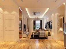 暖色调风90㎡现代简约三居室5万