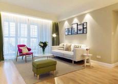 暖色调温馨之家98㎡现代简约三居室12万