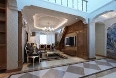 沈阳客厅阁楼120㎡北欧风格三居室4万