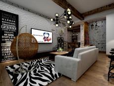 时尚工业风127㎡现代简约三居室3.1万