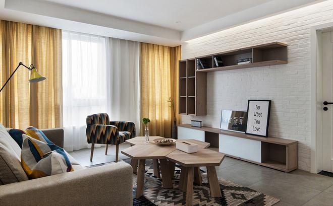 西子田园牧歌120㎡现代简约三居室14.3万