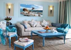 温情蓝色调房厅卫68㎡地中海二居室7万