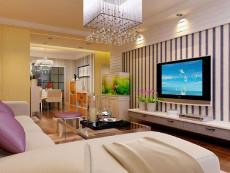 温馨暖色调143㎡现代简约三居室8.3万