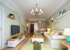 小清新房厅卫75㎡现代简约二居室5万