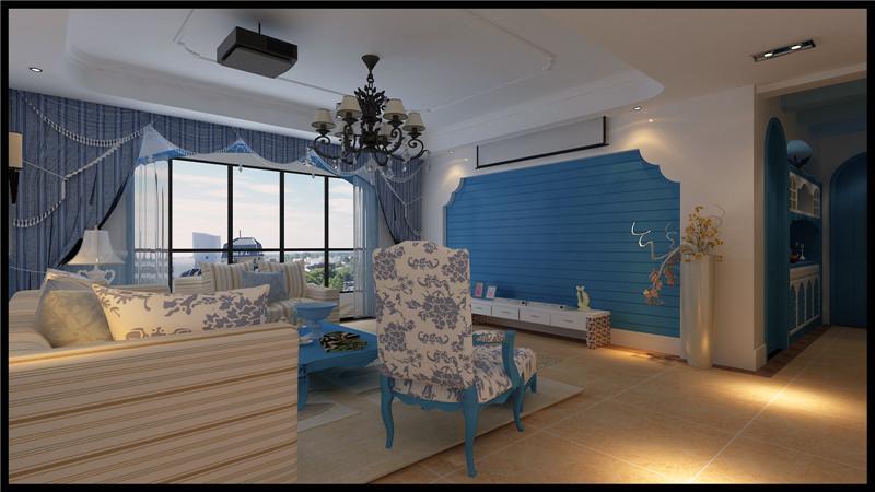 御湖国际三房104㎡地中海三居室6.5万