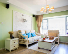 约克郡的小美式112㎡简美风格二居室9万
