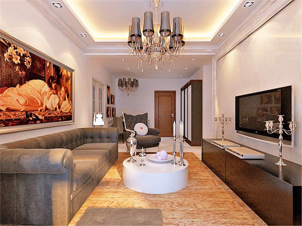 质朴高贵典雅91㎡北欧风格二居室7万