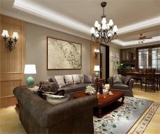 中锐尚城花园美式115㎡美式三居室10.3万
