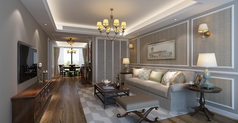 中央公寓106㎡现代简约二居室18万
